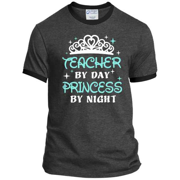 Teacher By Day Princess By Night ver2 Ringer Tee - TeachersLoungeShop - 3