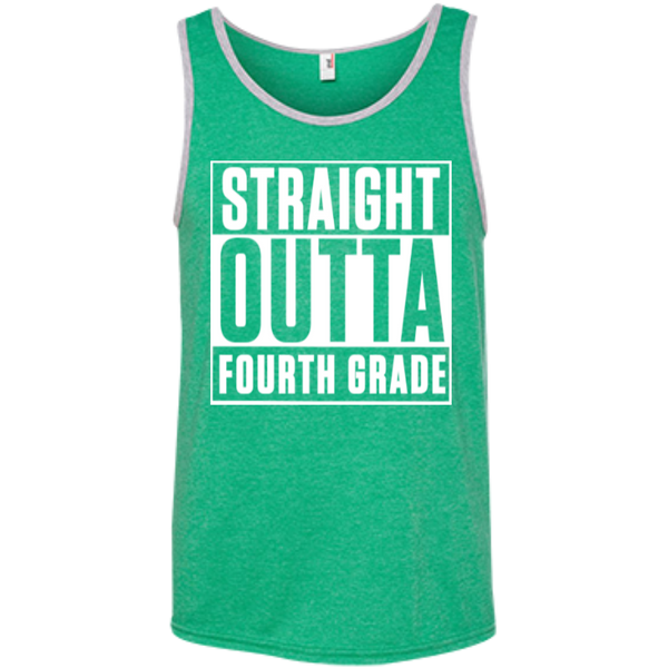 Straight Outta Fourth Grade   Ringspun Cotton Tank Top - TeachersLoungeShop - 3