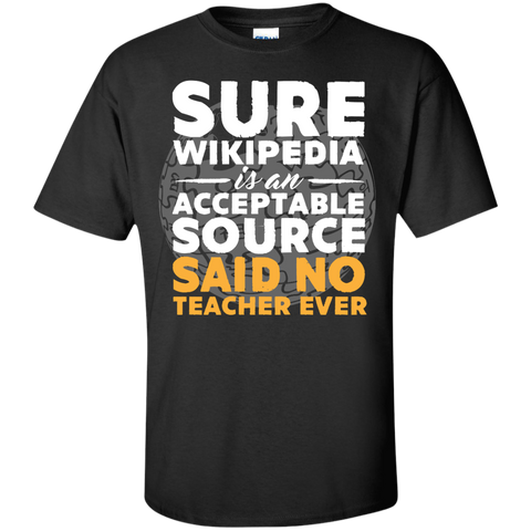 Sure Wikipedia is an acceptable source said NO Teacher ever  T-Shirt - TeachersLoungeShop - 1