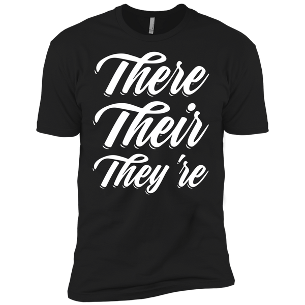 They Their They're  Next Level Premium Short Sleeve Tee - TeachersLoungeShop - 2