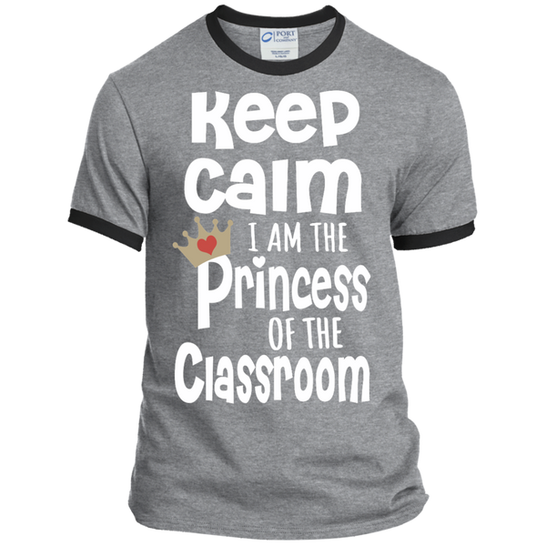 Keep Calm I am the Princess of the Classroom Ringer Tee - TeachersLoungeShop - 2