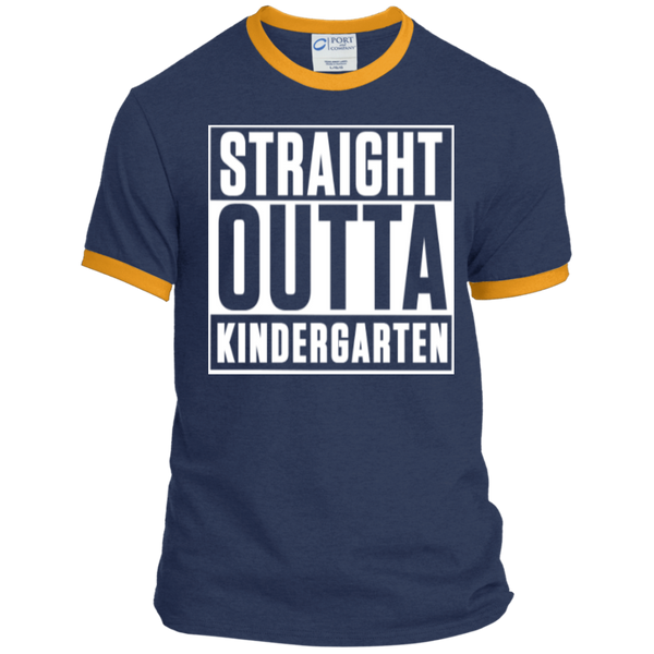 Straight Outta Kindergarten   Ringer Tee - TeachersLoungeShop - 6