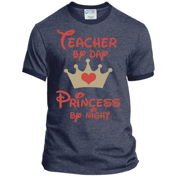 Teacher by Day Princess by Night Ringer Tee - TeachersLoungeShop - 7