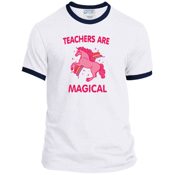 Teachers are Magical Ringer Tee - TeachersLoungeShop - 3