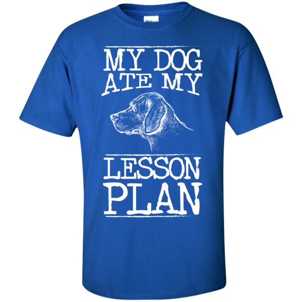 My Dog Ate my Lesson Plan  Cotton T-Shirt - TeachersLoungeShop - 3