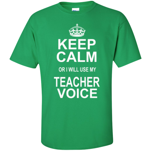 Keep Calm or i will use my Teacher Voice T-shirt Hoodie - TeachersLoungeShop - 5