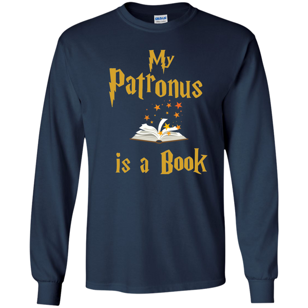 My Patronus is a Book LS Ultra Cotton Tshirt - TeachersLoungeShop - 10