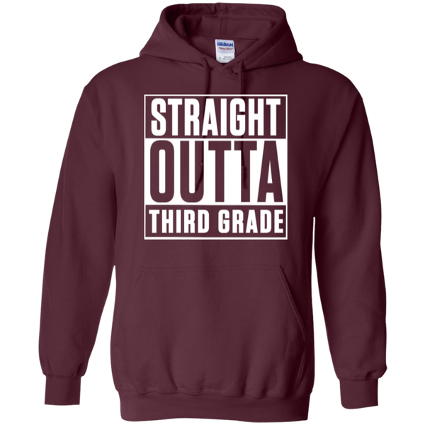 Straight Outta Third Grade  Hoodie 8 oz - TeachersLoungeShop - 9