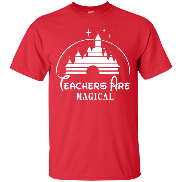 Teachers are Magical Cotton T-Shirt - TeachersLoungeShop - 8