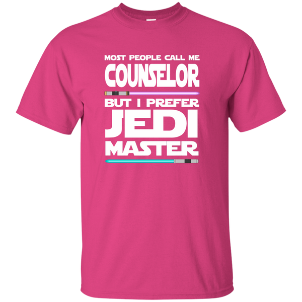 Most People Call Me Counselor But I Prefer Jedi Master Cotton T-Shirt - TeachersLoungeShop - 7