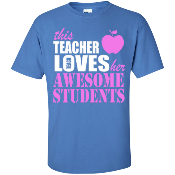 This Teacher Loves her Awesome Students T-shirt Hoodies - TeachersLoungeShop - 3