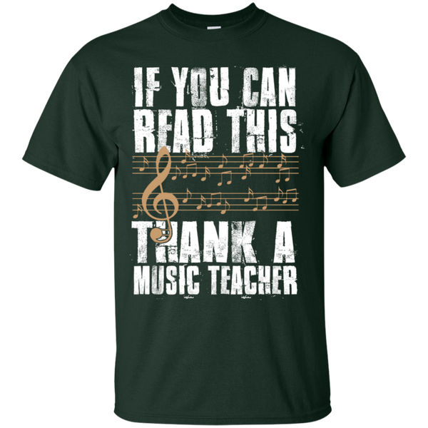 If you can read this Thank a Music Teacher T-Shirt - TeachersLoungeShop - 2