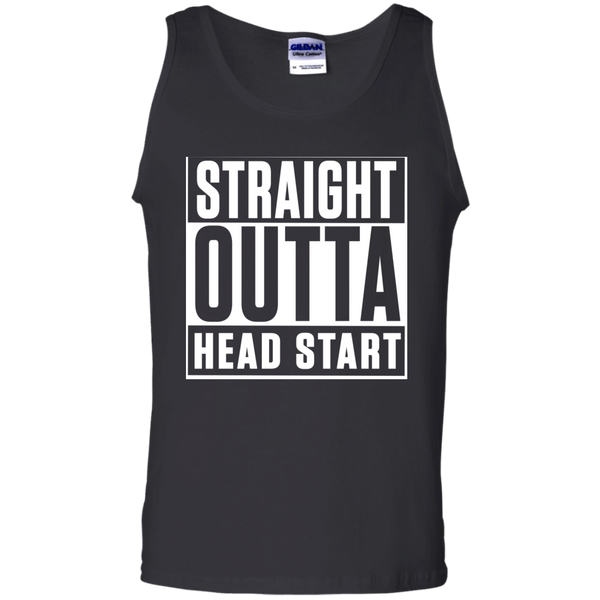 Straight Outta Head Start  Cotton Tank Top - TeachersLoungeShop - 1