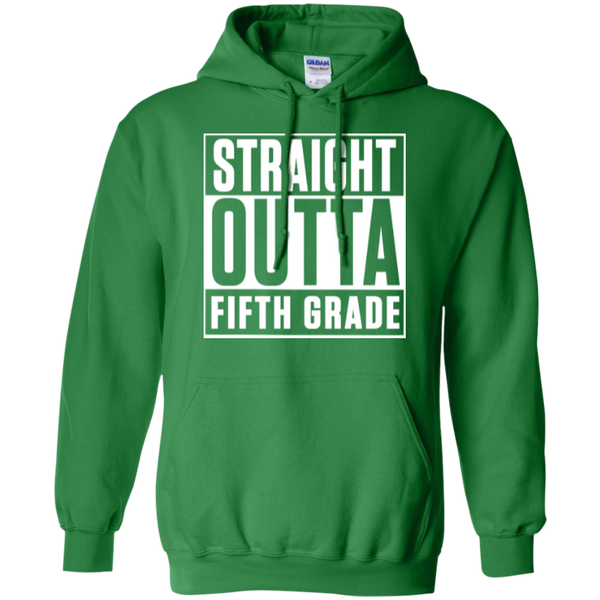 Straight Outta Fifth Grade  Hoodie 8 oz - TeachersLoungeShop - 9