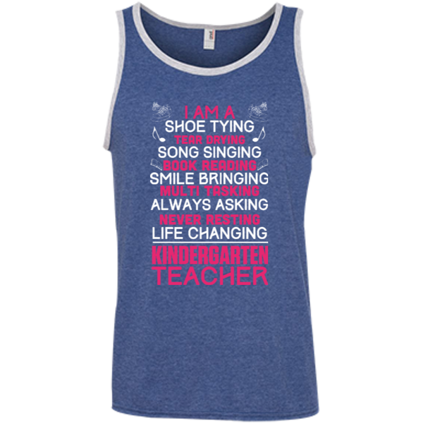 I'm a Kindergarten Teacher  100% Ringspun Cotton Tank Top - TeachersLoungeShop - 5