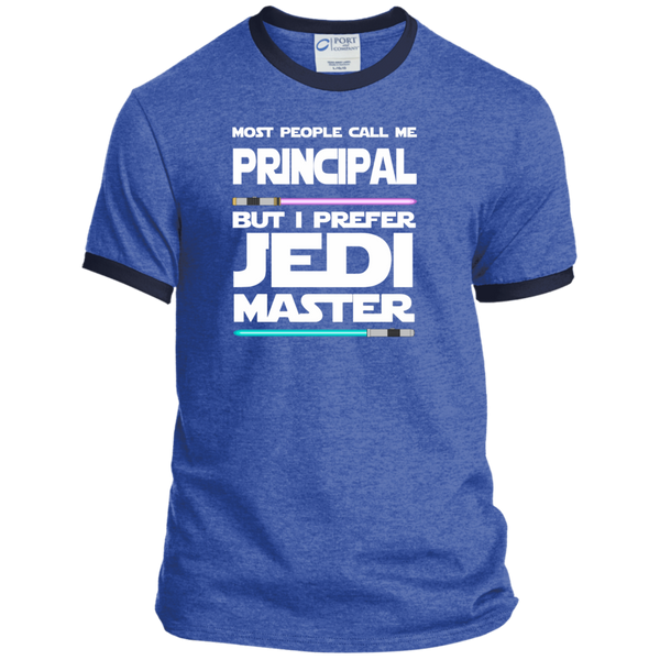 Most People Call Me Principal But I Prefer Jedi Master Ringer Tee - TeachersLoungeShop - 6