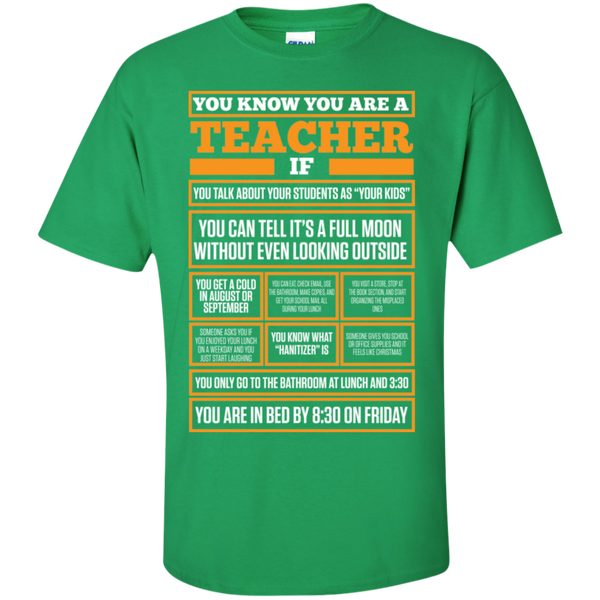 You know You are a Teacher if  T-Shirt - TeachersLoungeShop - 4