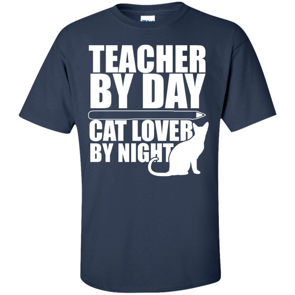 Teacher by Day Cat Lover by Night  T-Shirt - TeachersLoungeShop - 5
