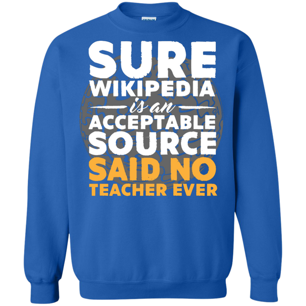 Printed Crewneck Pullover Sweatshirt  8 oz - TeachersLoungeShop - 6