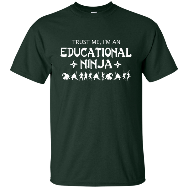 Trust Me I'm An Educational Ninja Cotton T-Shirt - TeachersLoungeShop - 2