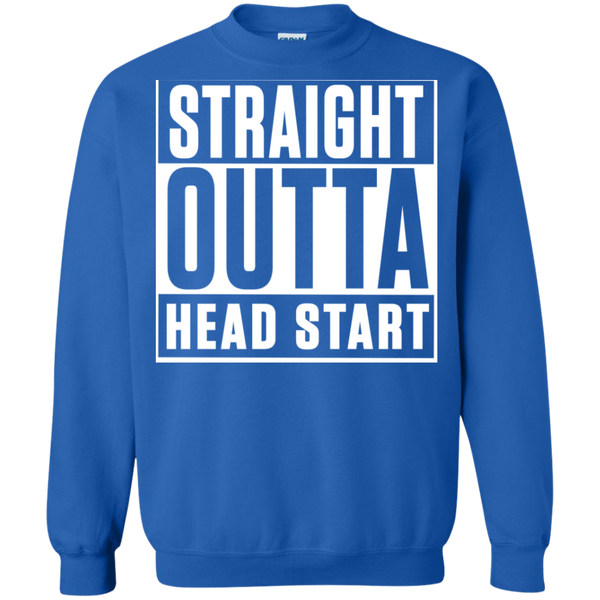 Straight Outta Head Start  Crewneck Pullover Sweatshirt  8 oz - TeachersLoungeShop - 6
