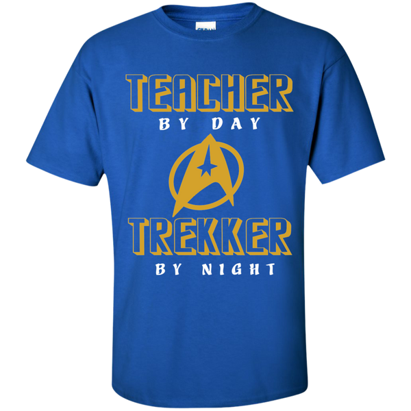 Teacher By Day Trekker By Night Cotton T-Shirt - TeachersLoungeShop - 9