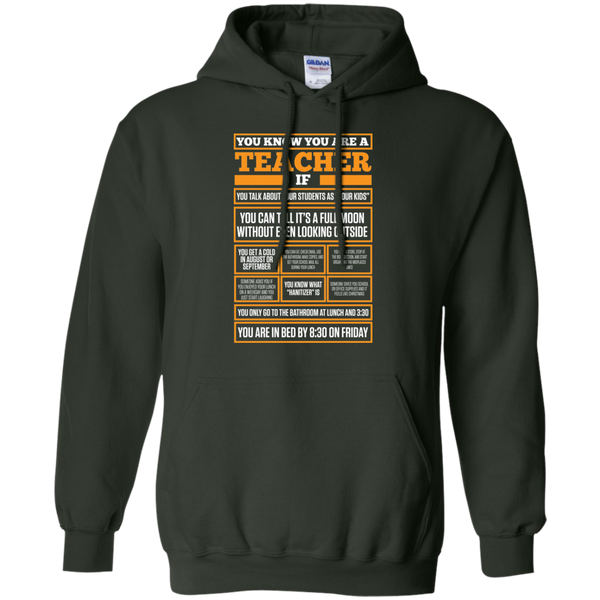 You know You are a Teacher if  Hoodie 8 oz - TeachersLoungeShop - 4