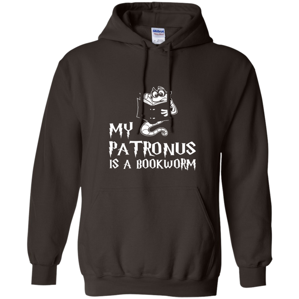 My Patronus is a Book Worm Pullover Hoodie 8 oz - TeachersLoungeShop - 9