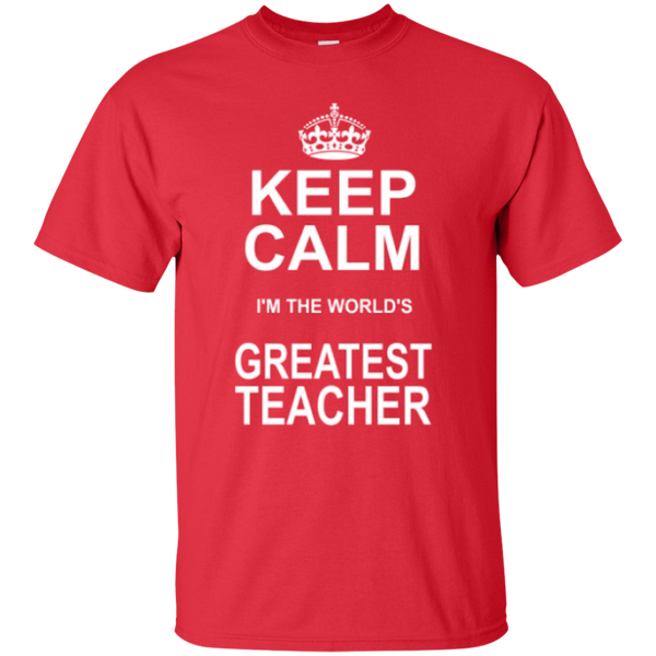 Keep Calm i'm the World's Greatest Teacher T-shirt Hoodie - TeachersLoungeShop - 2