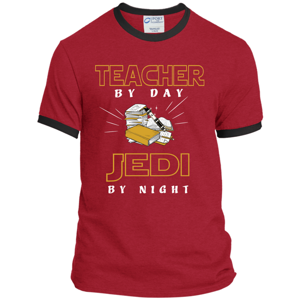 Teacher By Day Jedi By Night Ver2 Ringer Tee - TeachersLoungeShop - 5