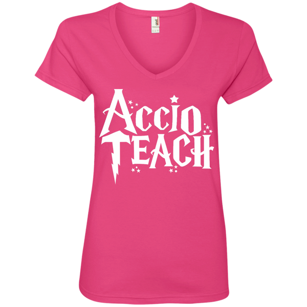 Accio Teach  V-Neck Tee
