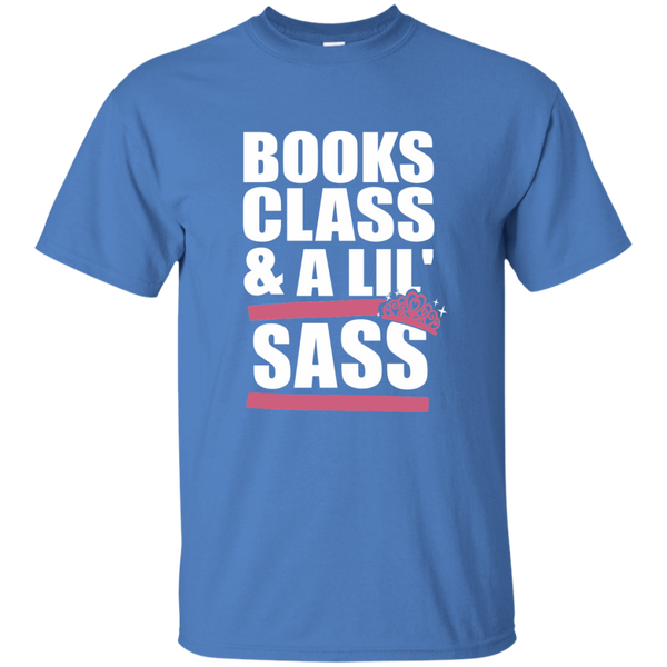 Books Class and A Little Sass Cotton T-Shirt - TeachersLoungeShop - 7