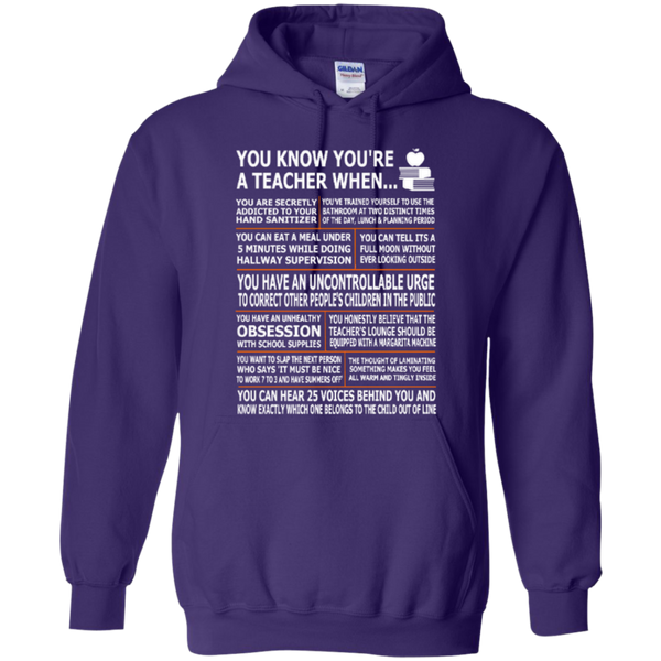 You Know You Are a Teacher When T-shirt Hoodies - TeachersLoungeShop - 10