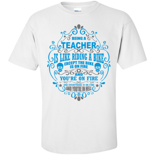 Being a Teacher is like Riding a Bike Teacher T-shirt Hoodie - TeachersLoungeShop - 2