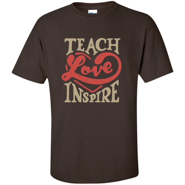 Teach Love Inspire Teacher Cotton T-Shirt - TeachersLoungeShop - 3