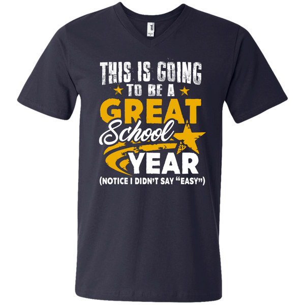 This is Going to be a Great School Year Men's   Printed V-Neck T - TeachersLoungeShop - 2