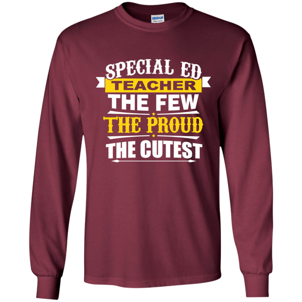 Special Ed Teacher The Few The Proud The Cutest LS Ultra Cotton Tshirt - TeachersLoungeShop - 7