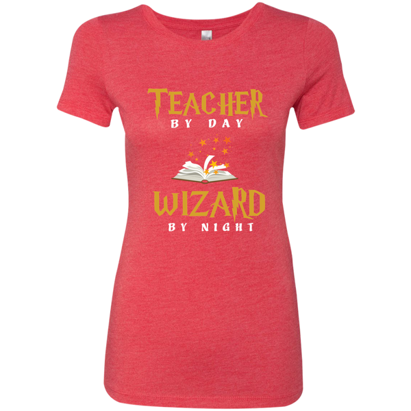 Teacher by Day Wizard by Night Next Level Ladies Triblend T-Shirt - TeachersLoungeShop - 8