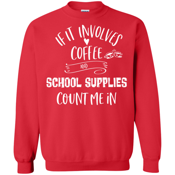 If it involves coffee and school supplies count me in .  Pullover Sweatshirt  8 oz.
