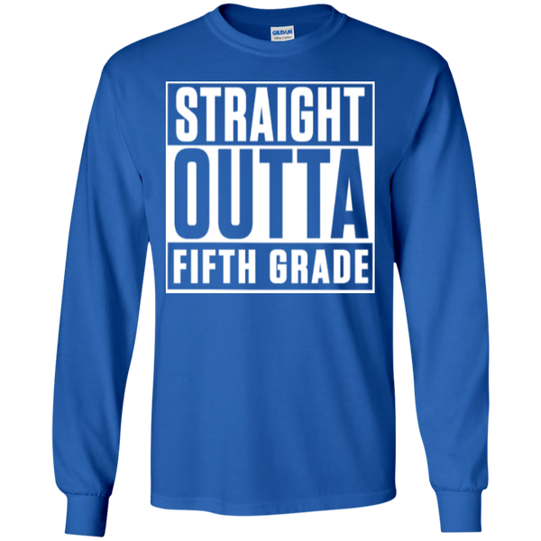 Straight Outta Fifth Grade LS  Cotton Tshirt - TeachersLoungeShop - 5