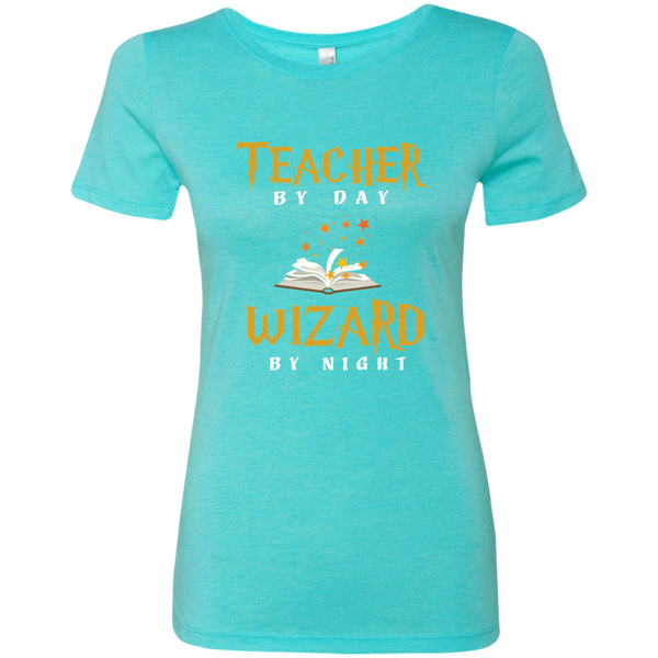 Teacher by Day Wizard by Night Next Level Ladies Triblend T-Shirt - TeachersLoungeShop - 4
