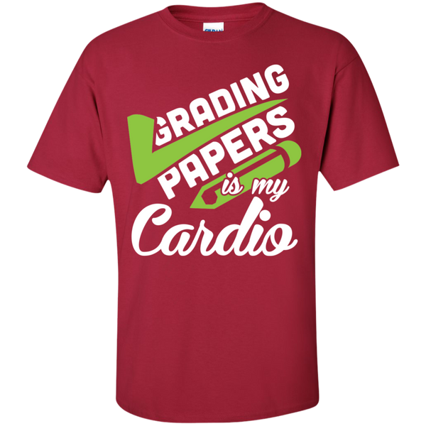 Grading papers is my cardio Cotton T-Shirt - TeachersLoungeShop - 8