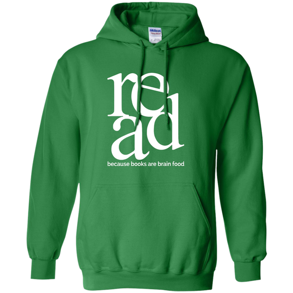 Read Because Books Are Brain Food Pullover Hoodie 8 oz - TeachersLoungeShop - 7