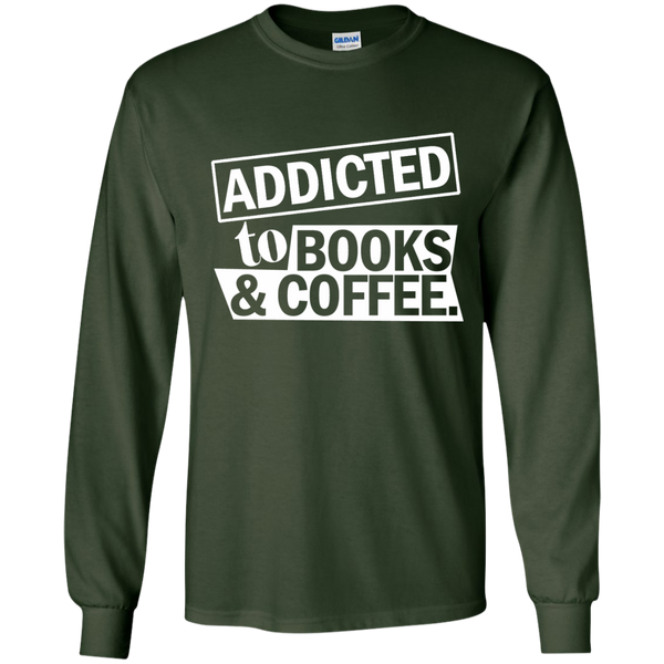 Addicted to Books and Coffee LS Ultra Cotton Tshirt - TeachersLoungeShop - 3