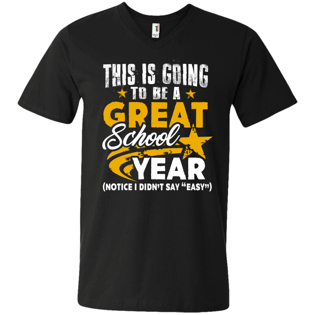 This is Going to be a Great School Year Men's   Printed V-Neck T - TeachersLoungeShop - 1