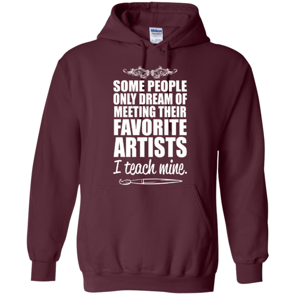 Favourite Artists i Teach Mine Hoodie - TeachersLoungeShop - 6