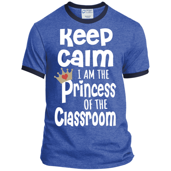 Keep Calm I am the Princess of the Classroom Ringer Tee - TeachersLoungeShop - 6