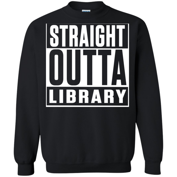 Straight Outta Library Pullover Sweatshirt  8 oz - TeachersLoungeShop - 1