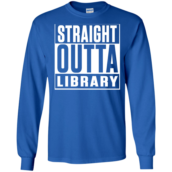 Straight Outta Library  LS Ultra Cotton Tshirt - TeachersLoungeShop - 8