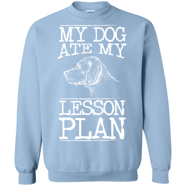 My Dog Ate my Lesson Plan Crewneck Pullover Sweatshirt  8 oz - TeachersLoungeShop - 9